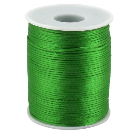 Festival Nylon DIY Craft Braided Chinese Knot Cord Thread String Green 109 Yards](Green Silly String)