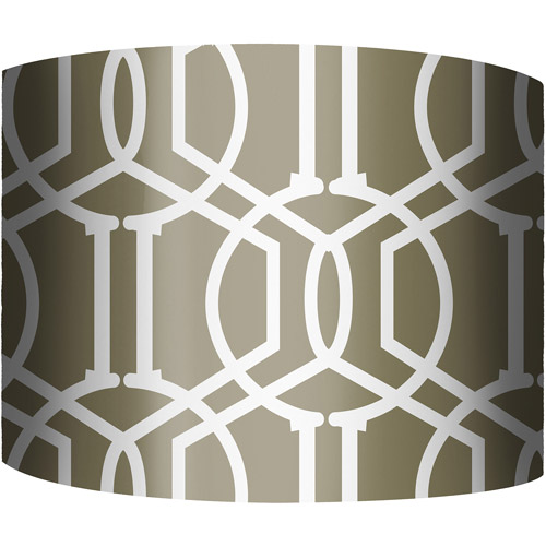 "12"" Drum Lampshade, Trellis Bronze by"