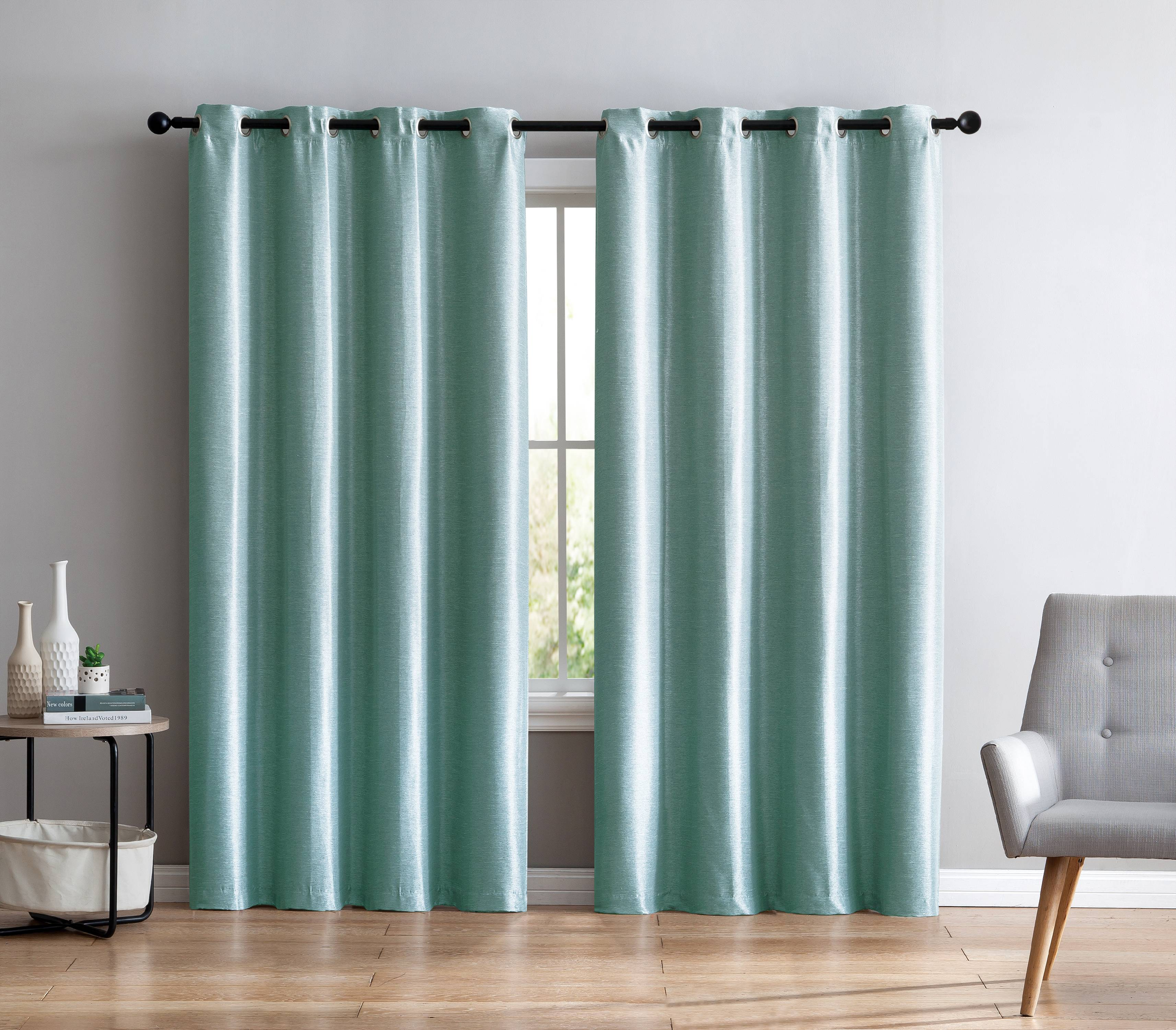 VCNY Home Sonia Faux Silk Grommet Curtain Panel, 54 X 84