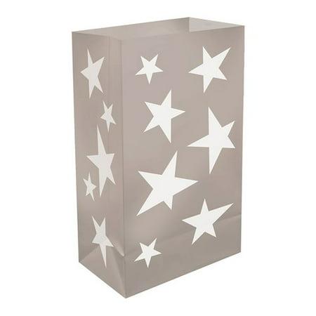 The Holiday Aisle Stars Plastic Luminary Bag (Set of 12) - Luminary Bag