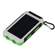 iMeshbean 30000mAh Power Bank Solar Charger Waterproof Portable External Battery USB Charger Built in LED light(White+Green)