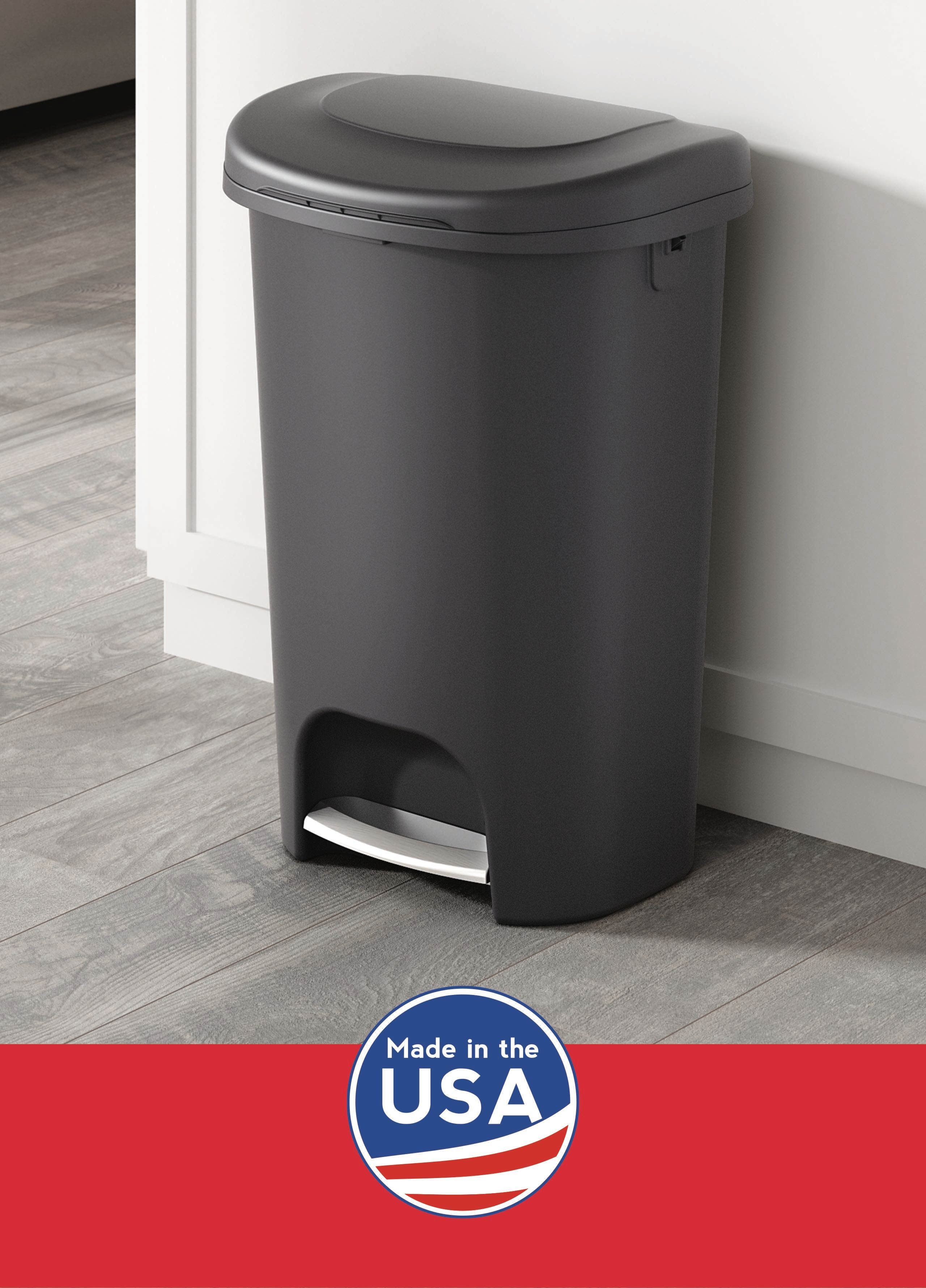 Rubbermaid Step-On Lid Trash Can for Home,Kitchen,Bathroom Garbage,13 Gallon