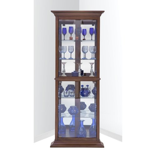 Darby Home Co Gladstone Lighted Corner Curio Cabinet Walmart Com