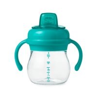 OXO Tot Transitions Soft Spout Sippy Cup With Removable Handles, 6 Oz, Teal