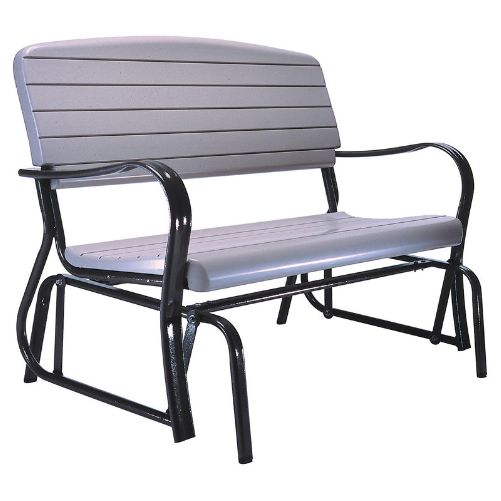 Lifetime Outdoor Glider Bench, Putty, 2871