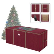 Elf Stor Red Rolling Christmas Tree Storage Duffel Bag w/Window for 9 Ft Tree