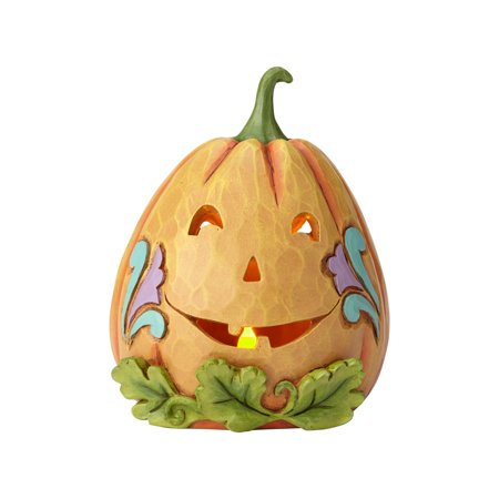 Jim Shore Halloween Lit Jack-O-Lantern Resin Figurine New with - Jim Shore Halloween Figurines