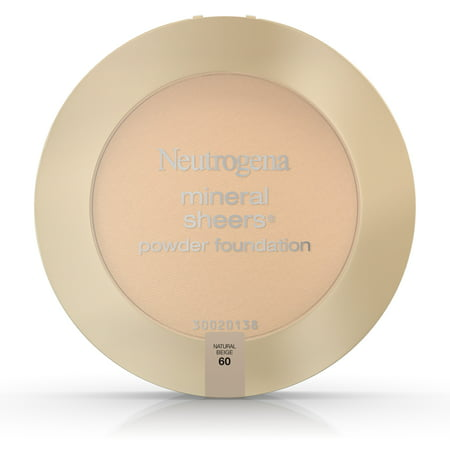 Neutrogena Mineral Sheers Compact Powder Foundation Spf 20, Natural Beige 60,.34 (Best Natural Foundation For Sensitive Skin)