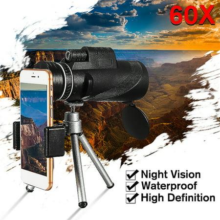 Low Light Night Vision Waterproof 40X60 High Definition Monocular Telescope-BAK4