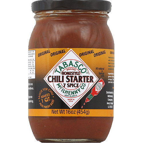 TABASCO Original Homestyle, 7 Spice Chili Starter, 16 oz, (Pack of 6)