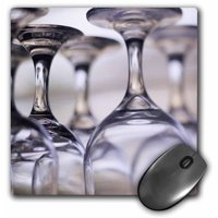 3dRose Wine glasses at resort, Turneffe Caye, Belize - SA02 SWS0007 - Stuart Westmorland, Mouse Pad, 8 by 8 inches