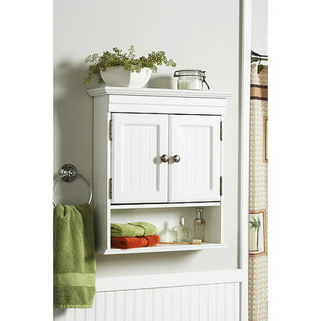 better homes and gardens cottage wall cabinet white