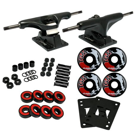 CORE BLACK MINI 4.75 Skateboard TRUCKS, WHEELS, ABEC 5