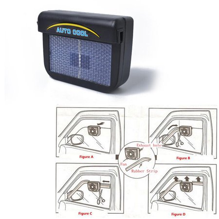 Car Solar Energy Air Exhaust Fan Energy-saving Cooling Fans Universal (Air Exhaust Kit)