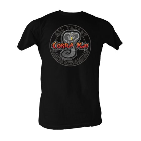 d96ed7ee7 Karate Kid All Valley Cobra Kai Black Logo Adult T-Shirt Tee - image 1 ...