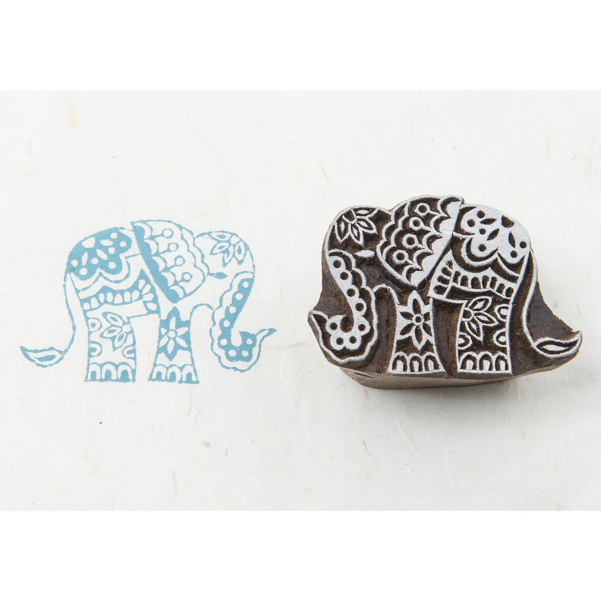 Blockwallah Block Stamp-Temple Elephant
