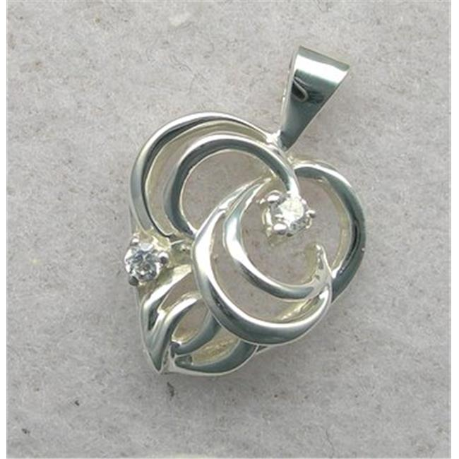 Marinas Fine Jewelry 10kt White Gold Genuine Diamond Heart Shaped Diamond Pendant