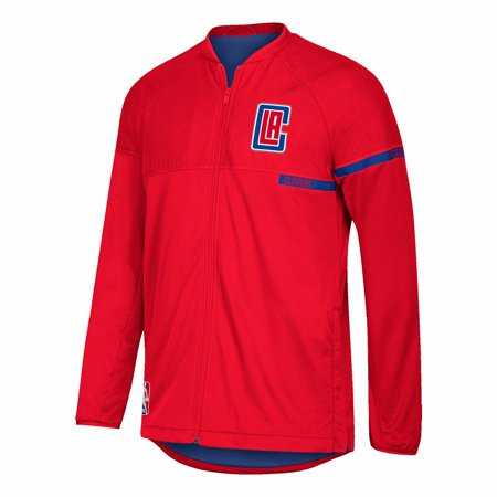 Los Angeles Clippers Nba Adidas Red 2016 17 Authentic On Court Team Issued Pro Cut Warm Up  Jacket For Men