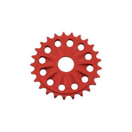 Red Beach Cruiser - Chainring Alloy 6061-T6 25t 1/2 X 1/8 Red. for bicycles, for bicycles, bikes, for lowriders, beach cruiser, strech bikes, limos, chopper cruiser