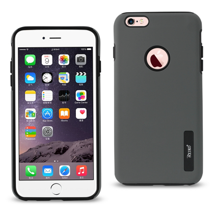 REIKO IPHONE 6 PLUS/ 6S PLUS SOLID ARMOR DUAL LAYER PROTECTIVE CASE IN GRAY