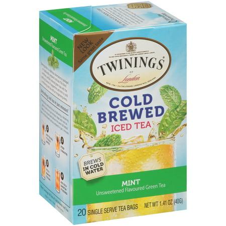 (2 Pack) Twinings of London® Green with Mint Cold Brewed Iced 20 ct Tea Bags 1.41 oz. Box