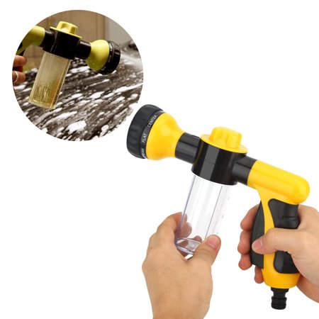 Garden Hose Nozzle Foam Car Washer Soup Water Gun with 8 adjustable