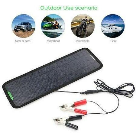 New Smart 12v 5w Portable Car Boat Power Solar Panel Battery Backup
