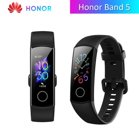 Global Honor Band 5 Smart Watch Bluetooth 4.2 Huawei TruSleep Tracking Phone Locate Heart Rate Monitoring Multiple Sports Modes (Bluetooth Low Energy Heart Rate Monitor Chest Strap)