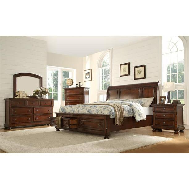 Piece Wood Queen Bedroom Set, Galaxy Furniture Bedroom Set