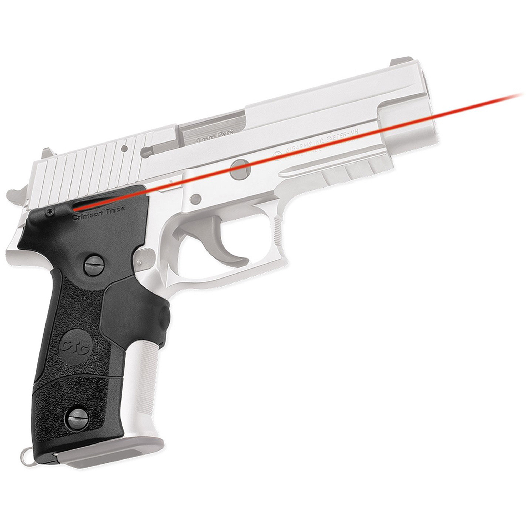 Crimson Trace Corporation Mil-Spec Laser Grip, Fits Sig P226, Black, Rubber Overmold