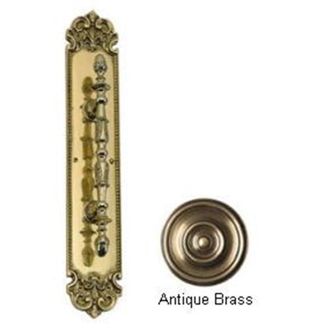 BRASS Accents A04-P3221-609 Fluer De Lis Pull Handle-Plate 3 inch x 18 inch Antique Brass