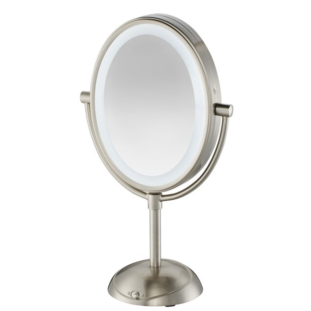 Conair Double Sided Lighted Vanity Mirror with LED Lights; 1x/7x