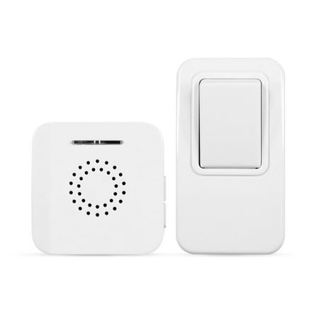 Battery-Free MightyHand Wireless Doorbell w/ 38 Tunes & 394 ft Range - For Homes, Apartments & Home Care; Easy - Radio Doorbell