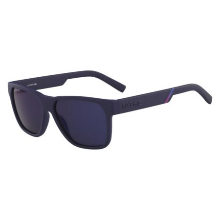 LACOSTE Sunglasses L867S 424 Matte Blue Rectangle Men's