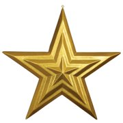 Autograph Foliages J-140450 31.5 in. Star Ornament, Glossy Glitter