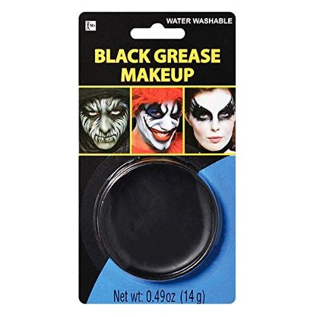 Grease Makeup (Party Ready Black Face Paint Style Grease Makeup Kit, 0.49)
