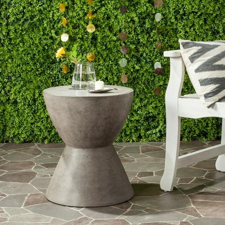 Safavieh Athena Indoor/Outdoor Modern Concrete Round Accent Table