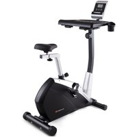 Goplus Exercise Bike Upright Stationary Magnetic Bicycle Laptop Tray Office Workstation