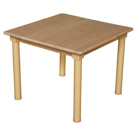 Wood Designs Childrens Square Table and Chair Set with 14