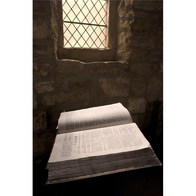 Posterazzi DPI1825668 Bible in a Church Rosedale North Yorkshire England Poster Print by John Short, 12 x 18 - image 1 de 1