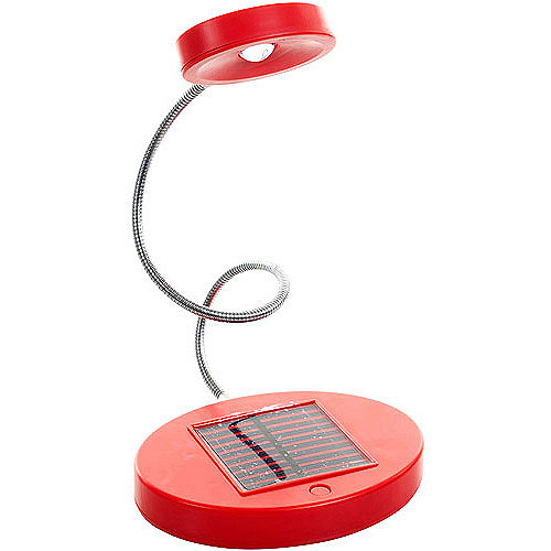 Trademark Global Solar Powered Flex LED Desk Lamp