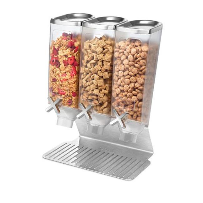 Rosseto Serving Solutions EZ515 3-Container Snack Dispenser with Stainless Steel Stand