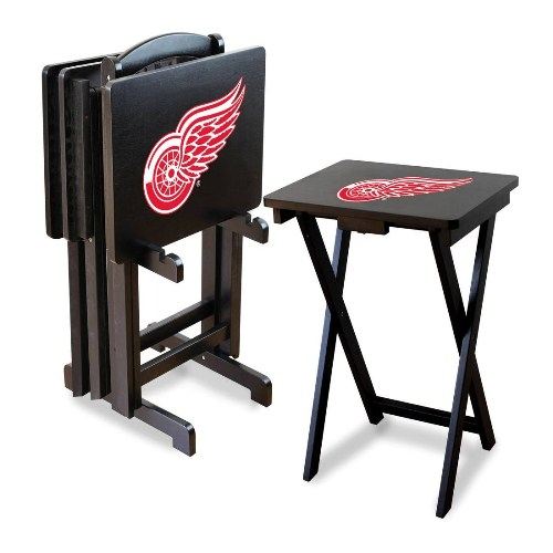 Imperial NHL TV Tray Table Set - Detroit Red Wings