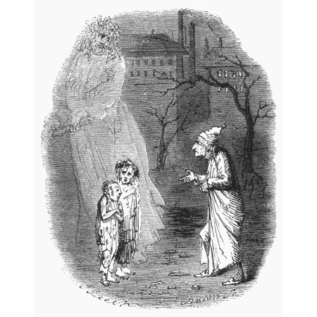Dickens Christmas Carol 1843 Ignorance And Want Etching By John Leech From The First Edition Of ...