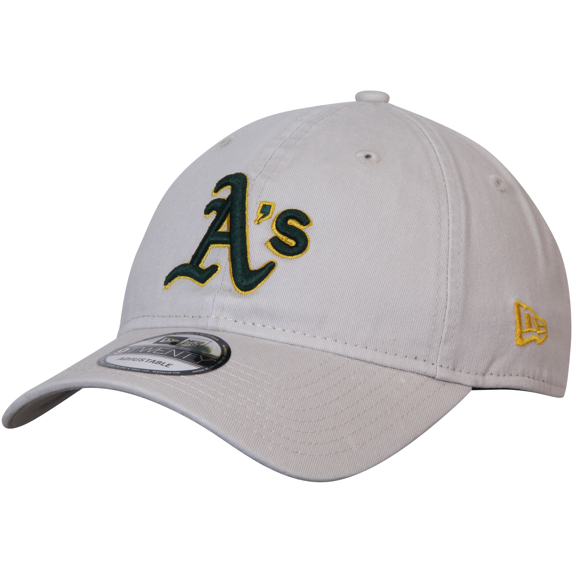 Oakland Athletics New Era Core Classic 9TWENTY Adjustable Hat - Stone - OSFA