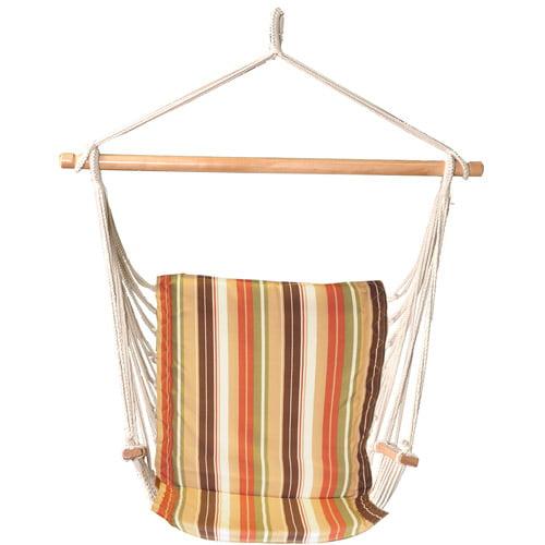 Bliss Hammocks Metro Hammock Chair, Green Stripe
