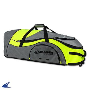 Pro-Plus Catcher's Roller Bag-36''L x 12''W x 12''H, Optic Yellow