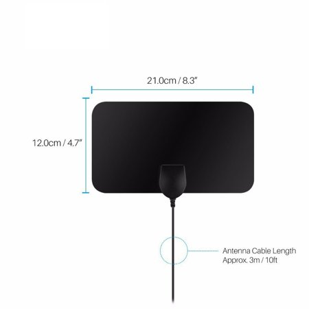 New Digital TV Antenna 80 Miles Range Indoor Amplifier HDTV 1080P 4K Signal - New Range