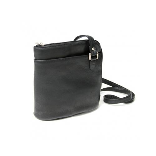 Royce Leather Vaquetta LZip Shoulder Bag RYCVLLZIPBGBLK