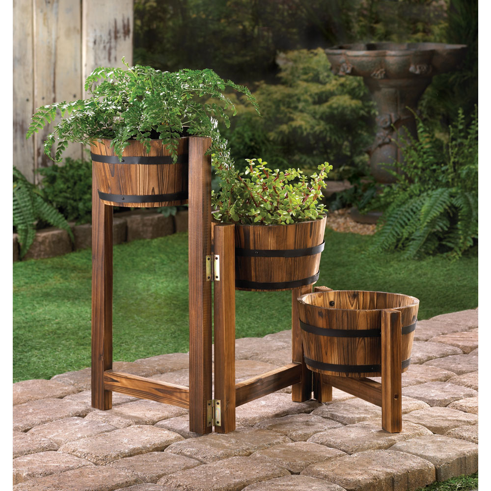 Large Garden Planters, Wooden Planter Boxes, Tall Apple Barrel ...